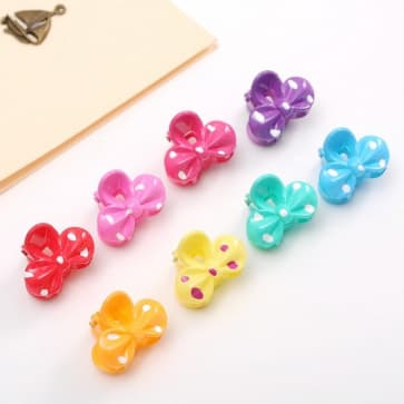 Candy Bow Mini Hair Claw Clip