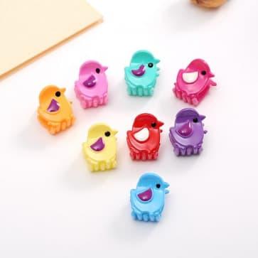 Candy Birds Mini Hair Claw Clip