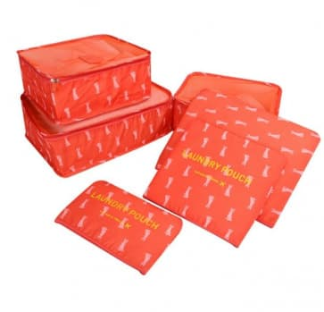 Waterproof Travel Pouch 6 Pieces Sets ~ 4 Patterns