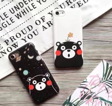 iPhone 7 Plus Case, Cute Bear Soft TPU Scratch Resistant Case