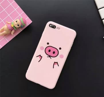 iPhone 7 Case, Lovely Pig Soft TPU Scratch Resistant Case