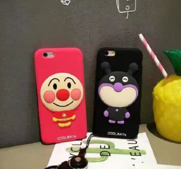 iPhone 6 Plus Case, Funny 3D Japan Cartoon Soft Silicone Cover