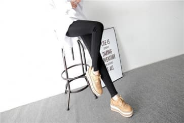 Cotton Knitted Spandex Jersey Leggings