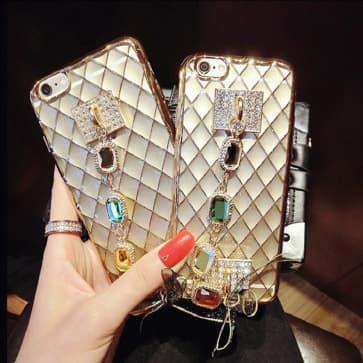 iPhone 6 Plus Case, Luxury Bling Crystal Diamond Clear Back Rhinestone Phone Case