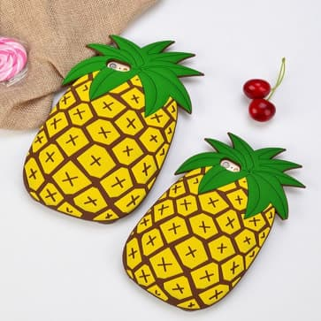 iPhone 6 Plus Case, Summer Pineapple Soft Silicone Cover