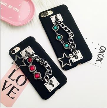 iPhone 7 Case, Luxury Bling Diamond Chain Phone Case