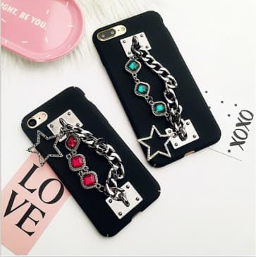 iPhone 6 Plus Case, Luxury Bling Diamond Chain Phone Case