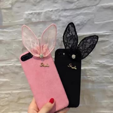 iPhone 7 Plus Case, Lace Butterfly Soft Silicone Cover