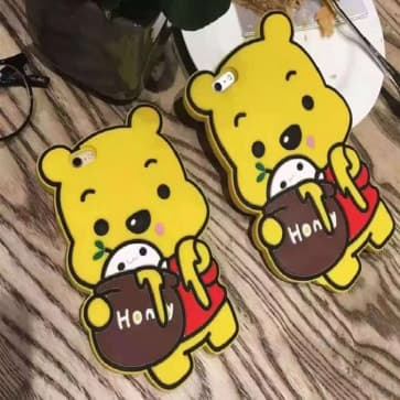 iPhone 6 Plus Case, Cute Bear 3D Japan Cartoon Soft Silicone Cover