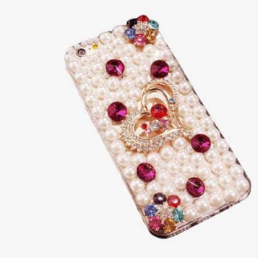 Galaxy S8 Plus Case, Luxury Rhinestone Bling Glitter Pearl Case