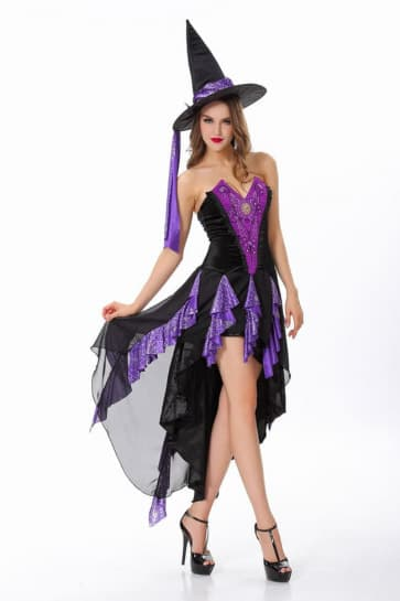 Beauty Witch Cosplay Costume Dress For Adults Halloween Costume