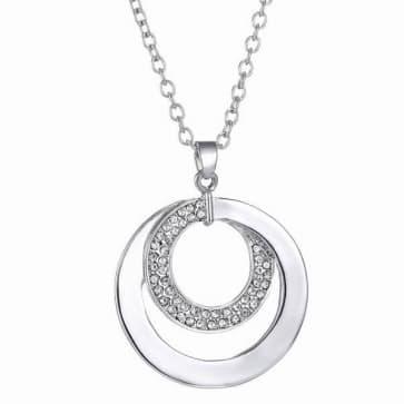Simple Rhinestones Silver Necklaces