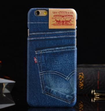 iPhone 6 Plus Case, Denim Jeans Pattern Hard Case