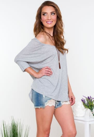 Arm Length Casual Wear Top Boat Neck T-Shirt
