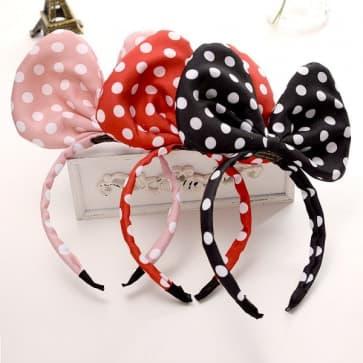 Mickey Dots Printed Cute Headband