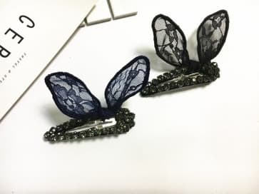 Rhinestone Butterfly Lace Hair Clip