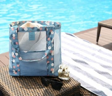 Mesh Coating Beach Shopper Bag