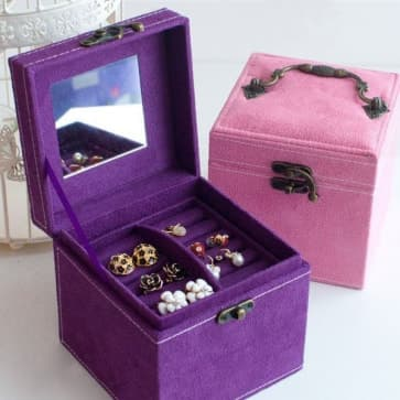 Vintage Fancy Suede Jewelery Box