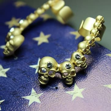 Goldtone Skull Earrings
