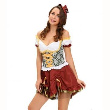 Sexy Off Shoulder Beer Garden Girl Costume
