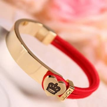 Juicy Elastic Bracelet with Crown Heart Shape Buckle