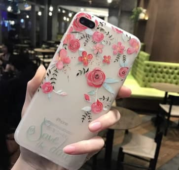 iPhone 7 Plus case, Rose Flowers with Soft TPU Scratch Resistant Case