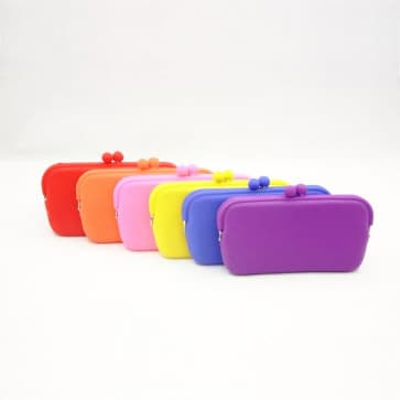POCHI Candy Colors Silicone Wallet Pouch