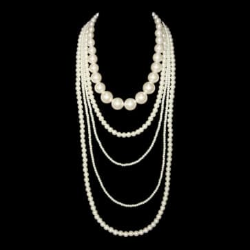 Layered Mutli Strand Pearl Bridal Necklace