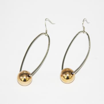 Dramatic Silver and Gold Fashion Earrings