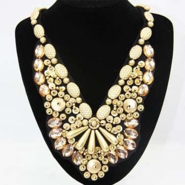 Gold Beads Neckline Necklace