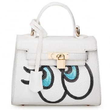 Fashion Big Eyes Tote Bag ~ White
