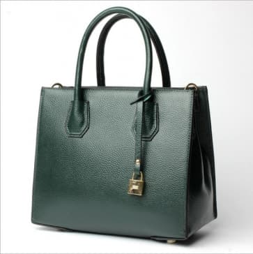 Fashion Trends Leather Lock Bag ~ Green