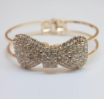 Sparkling Rhinestone Bow Bracelets