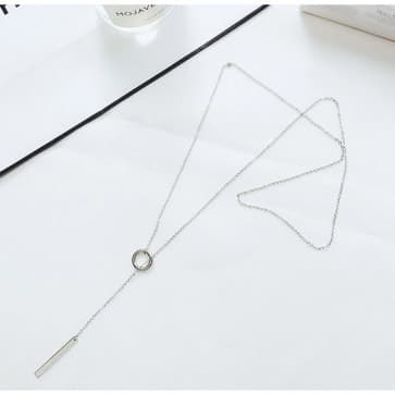 Smart Casual Drop Silver Necklaces