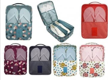Waterproof Nylon Travel Shoes Pouch ~ 3 Patterns