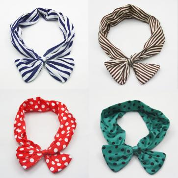 Stripes Pattern Twist Headband Scarf