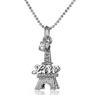 Eiffel Tower Rhinestones Necklaces