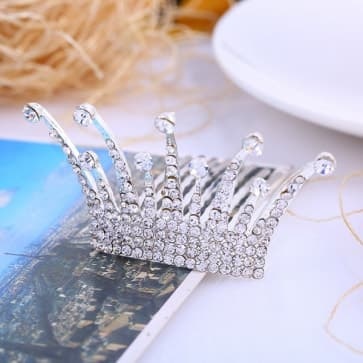 Rhinestone Crown Bridal Hair Ornaments