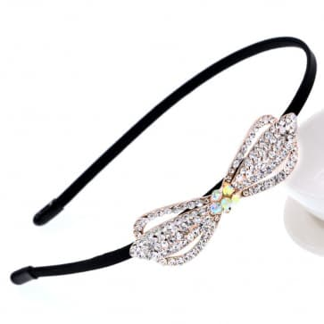 Rhinestone Bow Bridal Headband