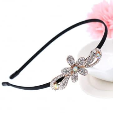 Rhinestone Floral Bridal Headband