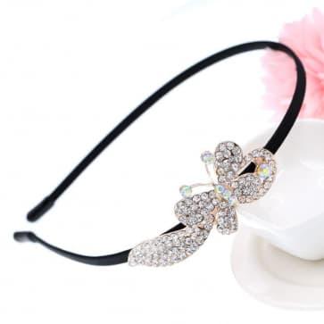 Rhinestone Butterfly Bridal Headband