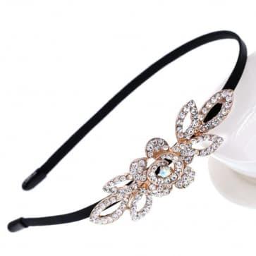 Rhinestone Leaves Shape Bridal Headband