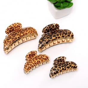 Leopard Printed Hair Claw Clip Sets