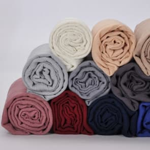 Cotton Linen Solid Color Scarf ~ Many Colors