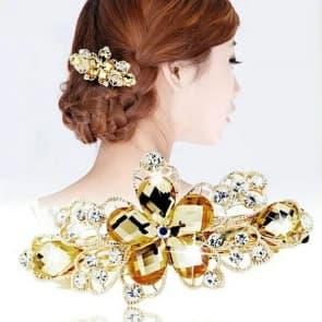 Elegant  Rhinestone  Floral  Crystal  Hair Clip  Barrette