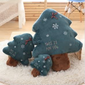 Christmas Tree Plush Toy Pillow with Light Decorations Gift for Christmas