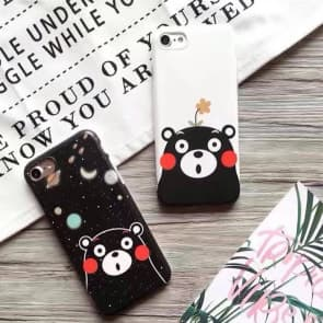 iPhone 7 Case, Cute Bear Soft TPU Scratch Resistant Case