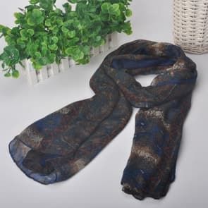 Animals Printed Chiffon Scarf