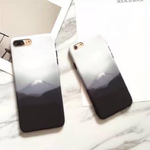 iPhone 7 Case, Snow Mountain Soft TPU Scratch Resistant Case
