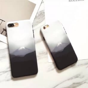 iPhone 6/6S Case, Snow Mountain Soft TPU Scratch Resistant Case